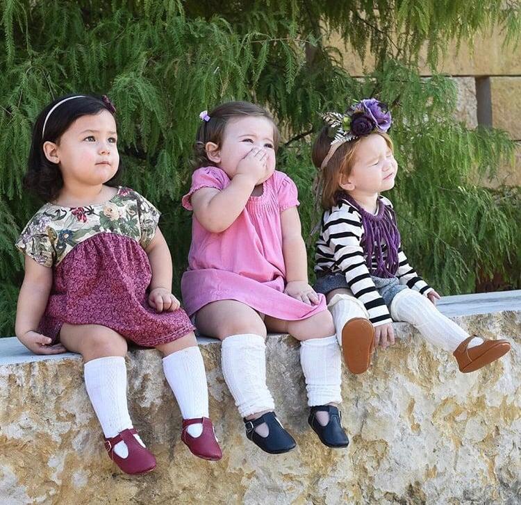Image of Knit leg warmers (white/blue/black/pink)