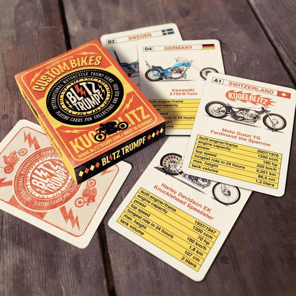 "Image of BLITZ TRUMPF card game ""Custom bikes"""