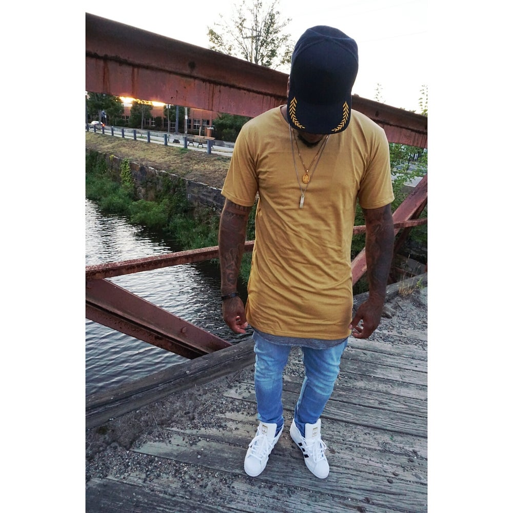 Image of LONG LINE OPEN NECK T SHIRTS