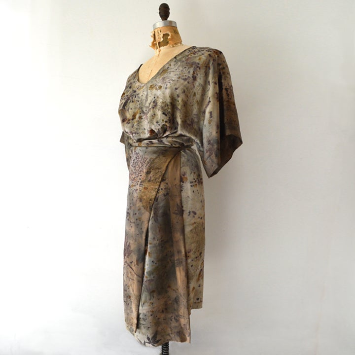 Image of Kimono Wrap silk dress