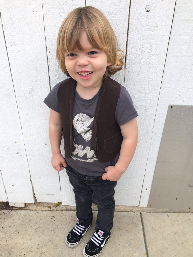 Image of COSTA SUR- Kids Canyon Suede Vest