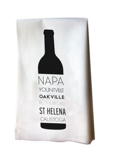 Image of Napa Valley Wine Bottle Tea Towel