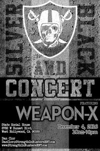 """Image of Weapon-X """"Silver and Black Concert"""" Poster"""