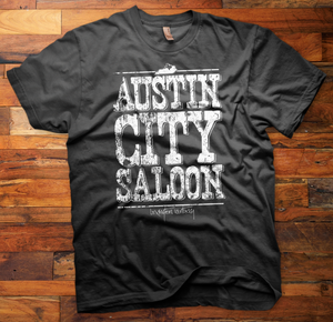 Image of Austin City Saloon big and bold logo