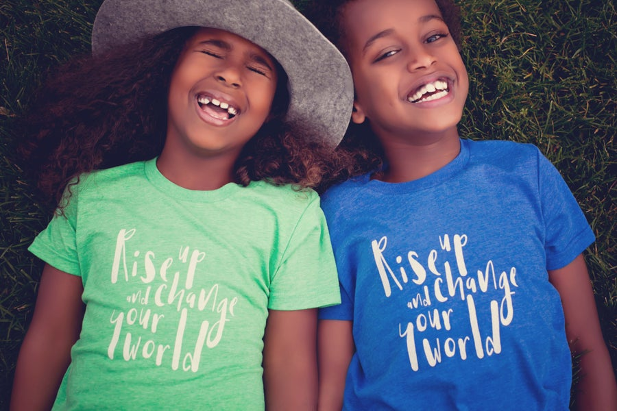 Image of Rise up & change your world kids' tees
