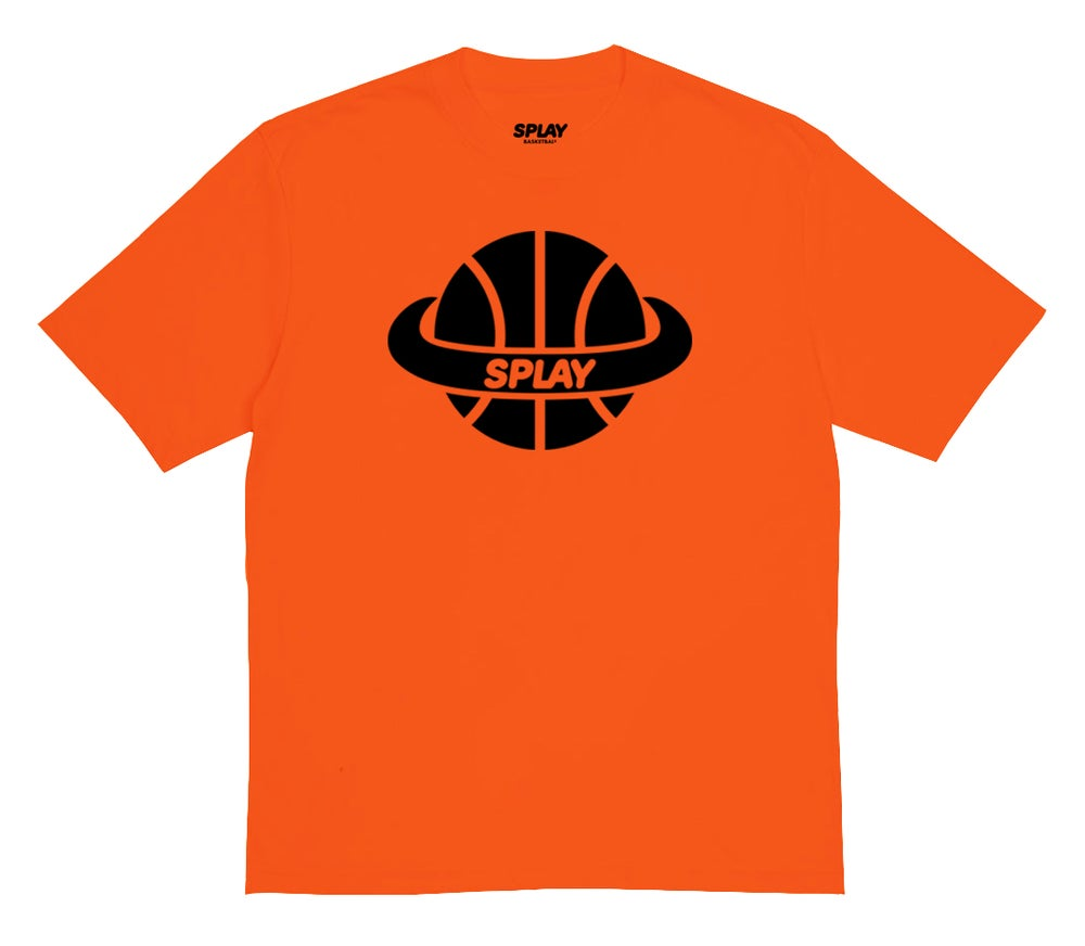 Image of SPLAY TEE - ORANGE - (TEAM BLEM)