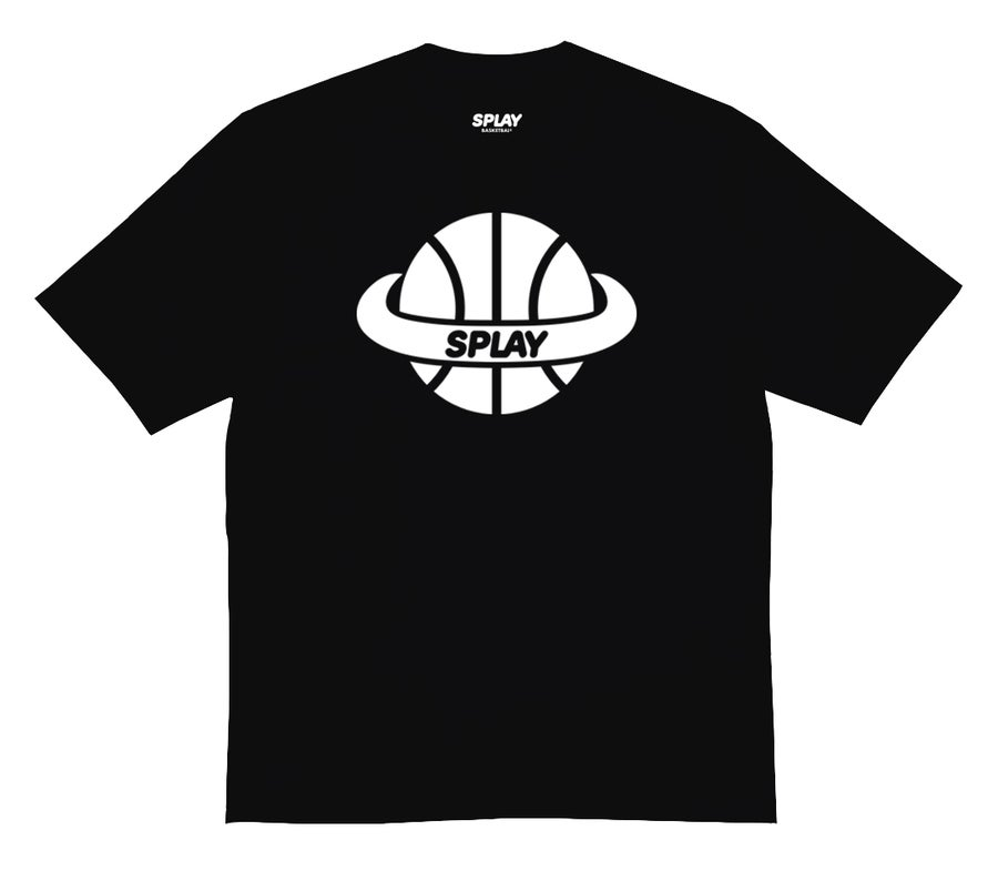 Image of SPLAY TEE - BLACK - (TEAM SHIFT)