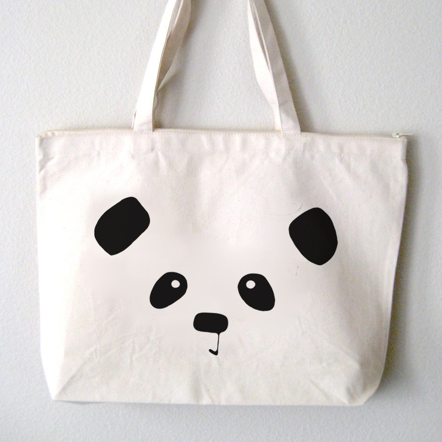 "Image of ""Panda Face"" Tote Bag"
