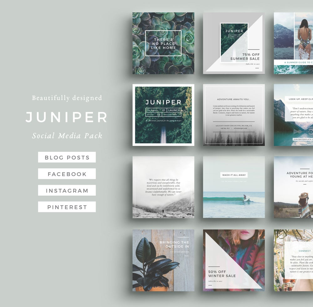 Image of J U N I P E R Social Media Pack