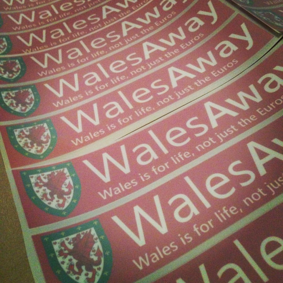 Image of WALES IS FOR LIFE Car Window Stickers