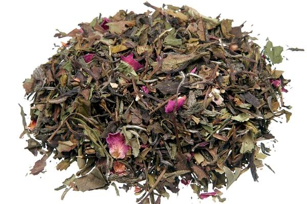 Image of Weißer Tee Pai Mu Tan Rosenblüten