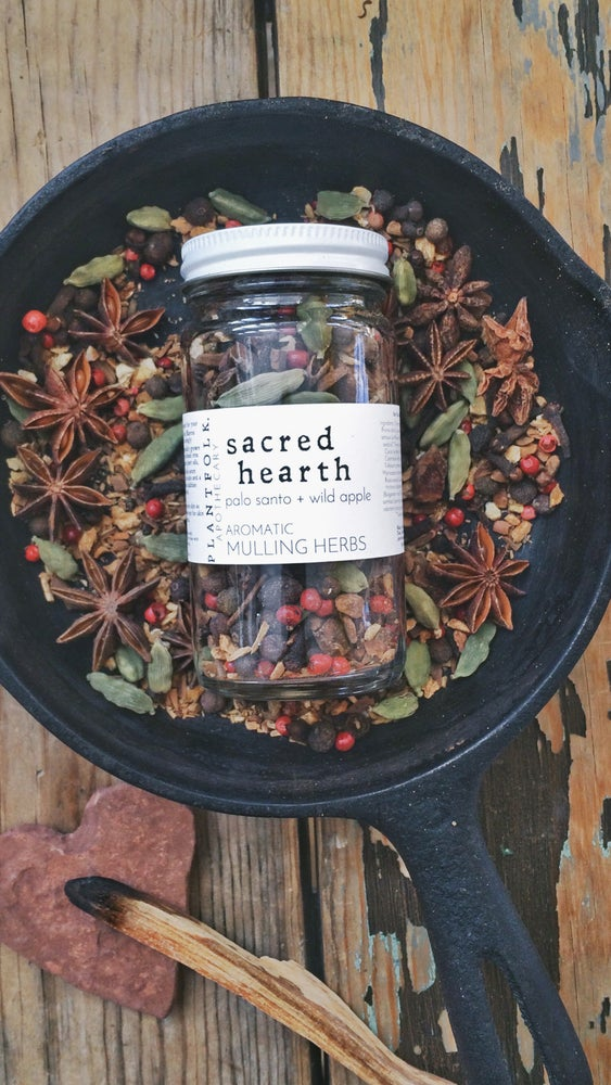 Image of sacred hearth {palo santo + wild apple} mulling spices