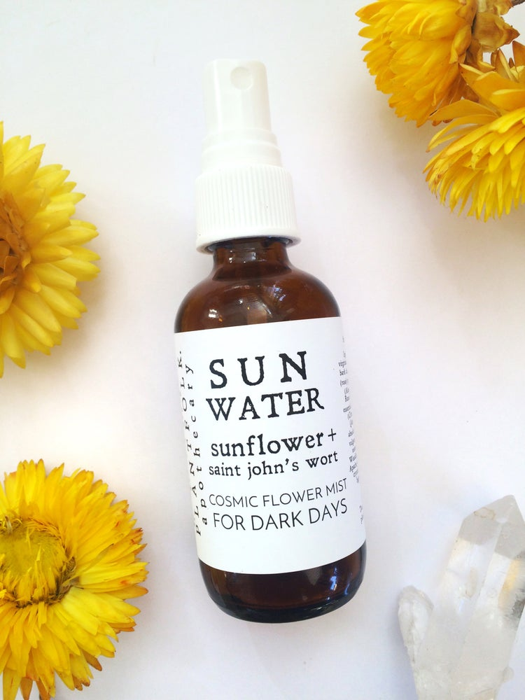 Image of Sun Water {sunflower + saint john's wort} mist for dark days
