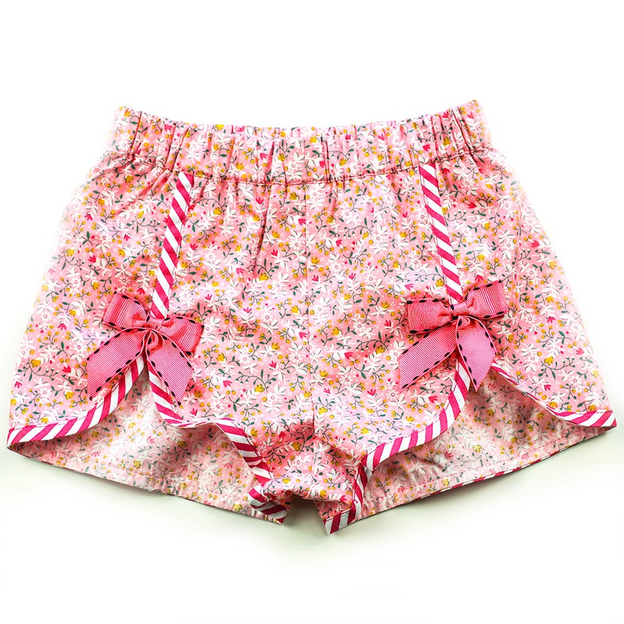 Image of Polly Vintage Bow Shorts - Musk