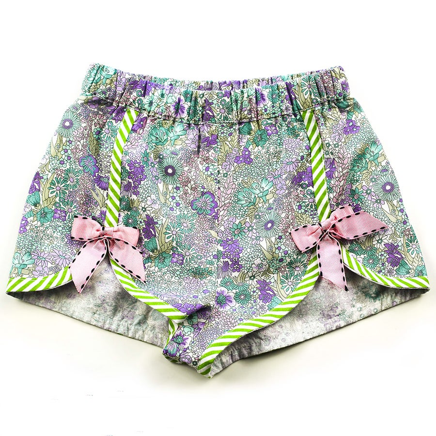 Image of Polly Vintage Bow Shorts - Mint