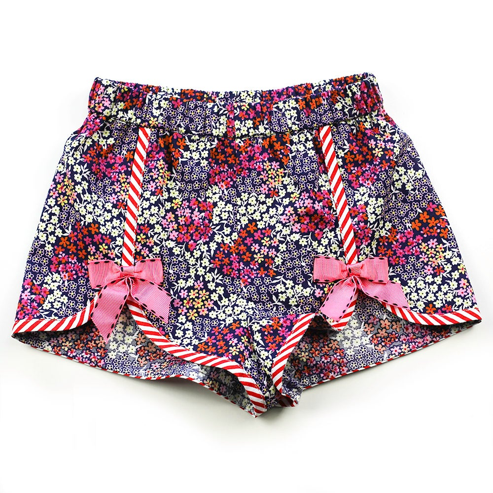 Image of Polly Vintage Bow Shorts - Mulberry