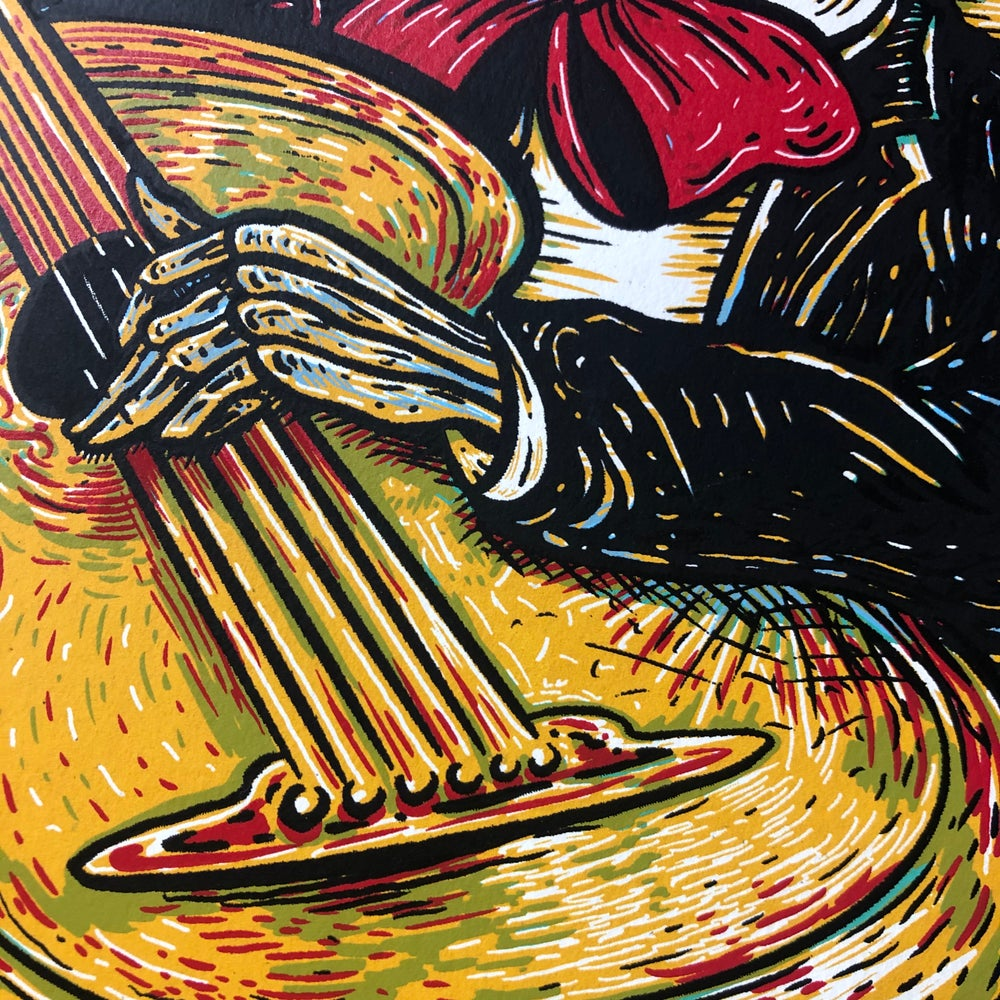 Mariachi with Guitarrón Limited Edition five color fine art screen print