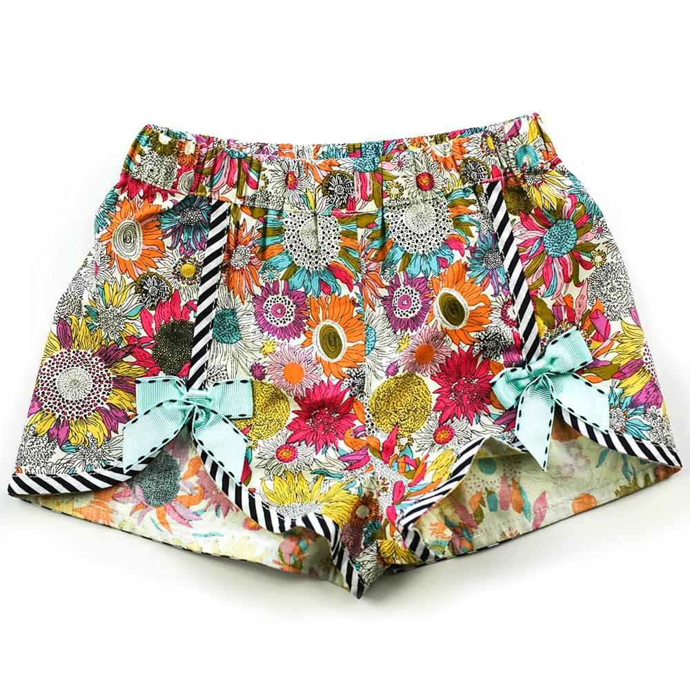 Image of Polly Vintage Bow Shorts - Dahlia