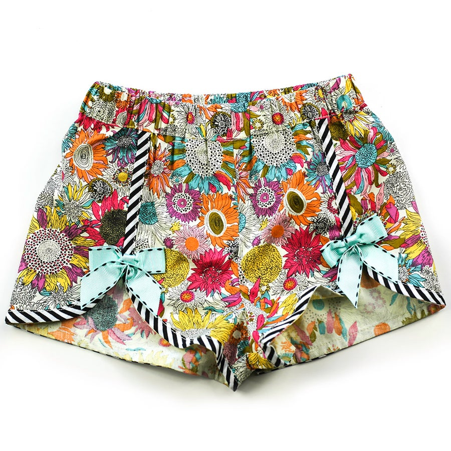 Image of Polly Vintage Bow Shorts - Dahlia