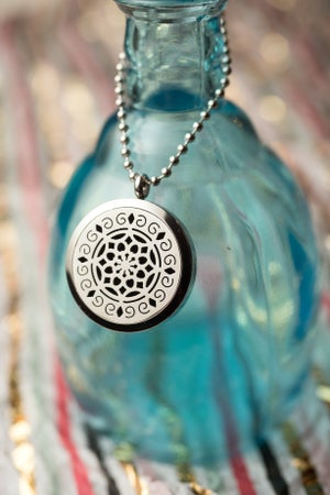 Image of Norge Lotus Essential Oil Diffuser Necklace