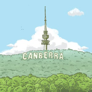 Image of Canberra Hollywood Sign Limited Edition Digital Print