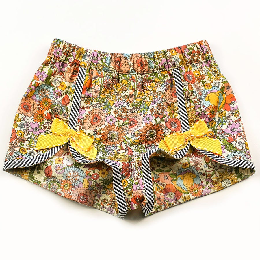 Image of Polly Vintage Bow Shorts - Autumn