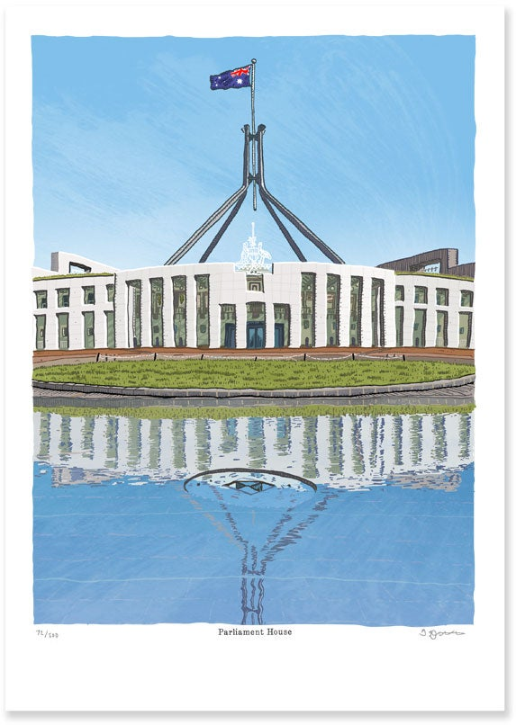 Image of parliament House Limited Edition Digital Print