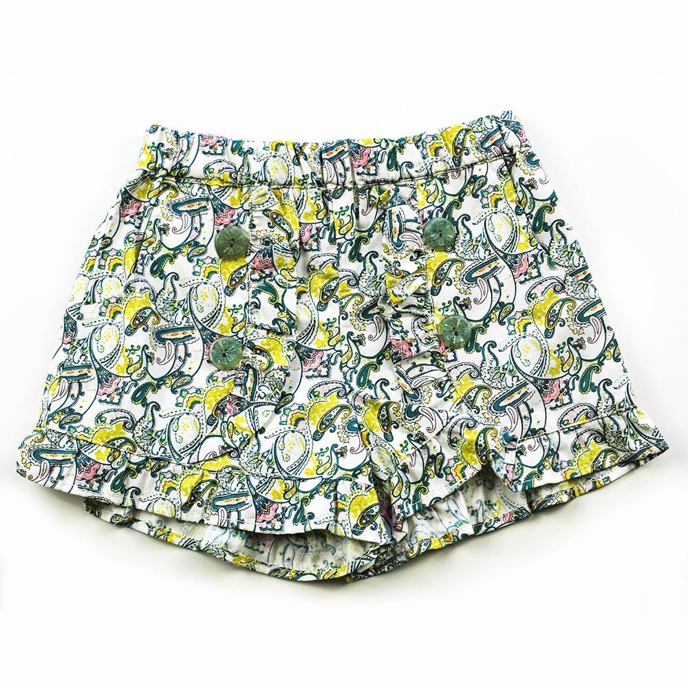 Image of Clementine Vintage Ruffle Shorts - Paisley