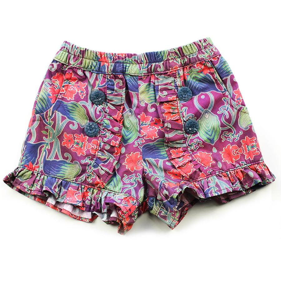 Image of Clementine Vintage Ruffle Shorts - Floral Nouveau