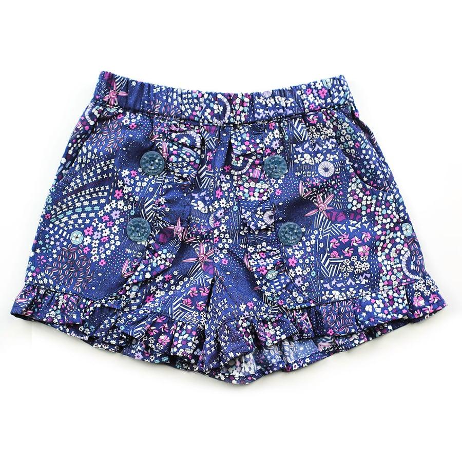 Image of Clementine Vintage Ruffle Shorts - Indigo