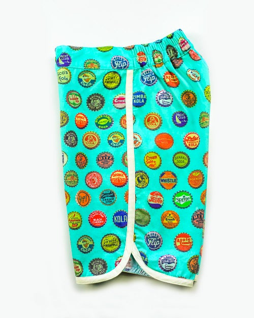 Image of Boys Retro Travel Shorts -  Vintage Soda Pop > Aqua