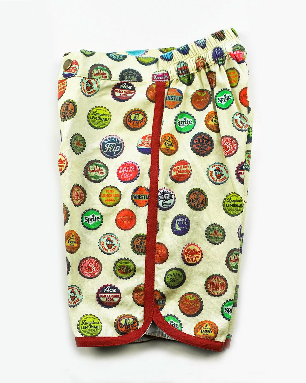 Image of Boys Retro Travel Shorts - Vintage Soda Pop > Cream