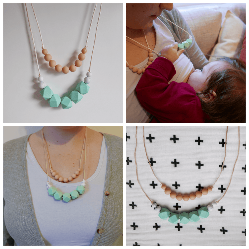 Image of Mint teething necklace