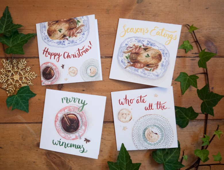 Image of Christmas Cards - 4 designs - £2.50 each or 4 for £8.00