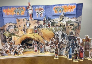 Image of Schweizercraft Nativity Set & Companion Book
