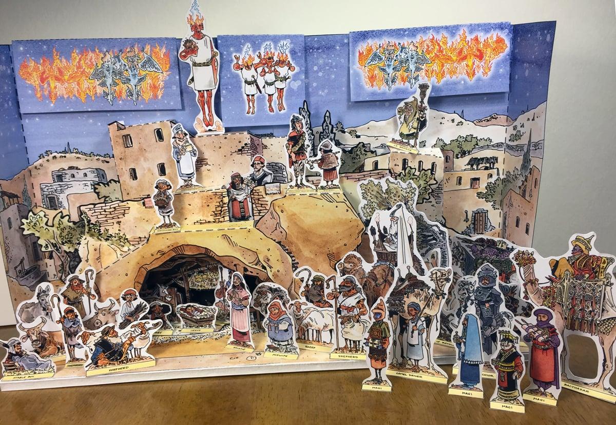 Schweizercraft Nativity Set & Companion Book