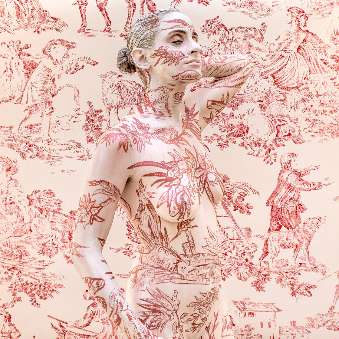Image of Toile deJouy Rouge