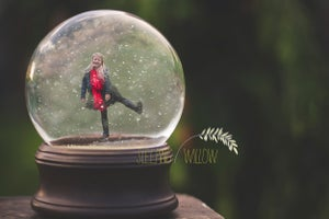 Image of Christmas Snowglobe 2016 - The Sleeping Willow Snowglobe Digital Template