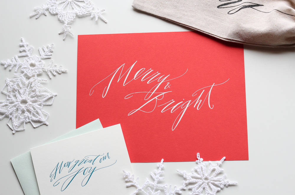 Image of How Great our Joy Letterpress Card