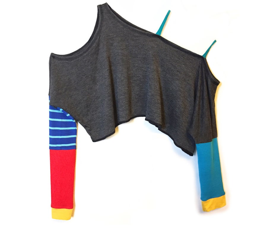 Image of Flash Dance Asymmetrical Crop Tunic
