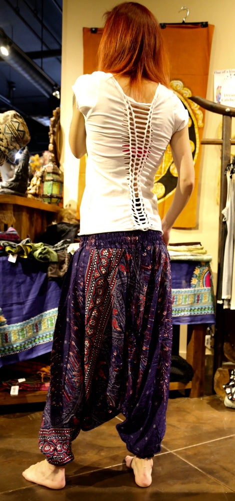Image of Flowy Harem Pants 2