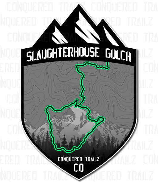 """Image of """"Slaughterhouse Gulch"""" Trail Badge"""