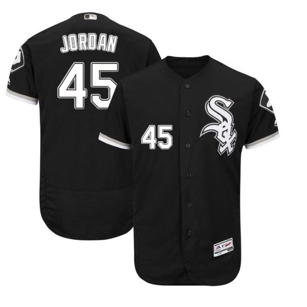 "Image of Black Chicago White Sox ""Michael Jordan #45"" Baseball Jersey"