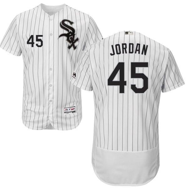 "Image of White Chicago White Sox ""Michael Jordan #45"" Baseball Jersey"