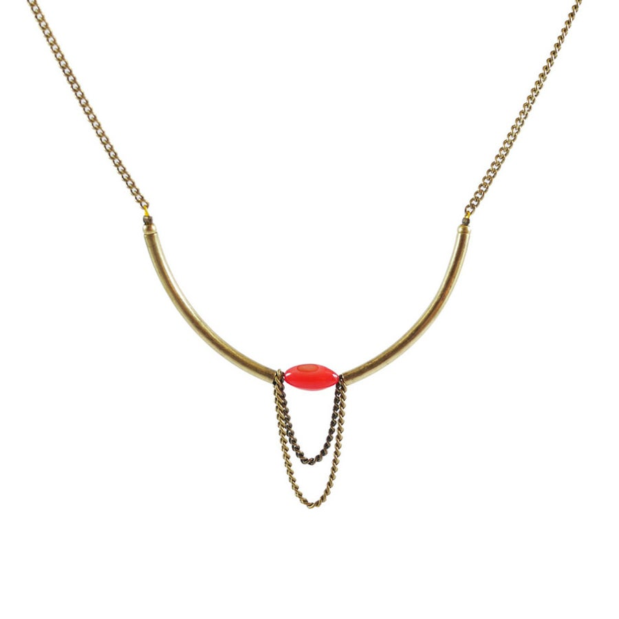 Image of Collier Olive Corail Disponible 7 Coloris