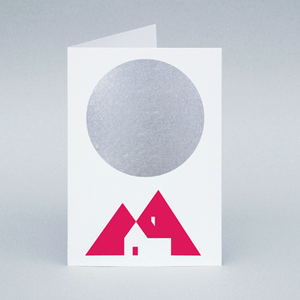 Image of Winter Moon Cabin card