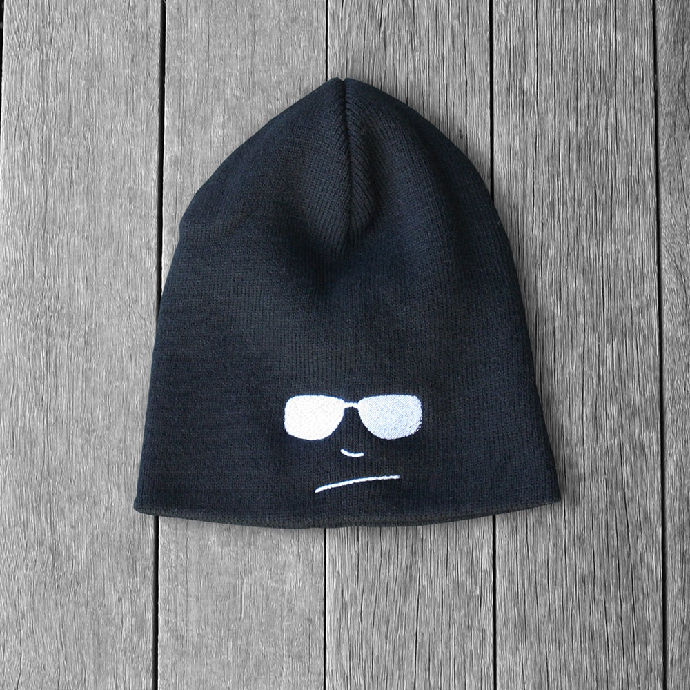 Image of Mens Black Winter Beanie