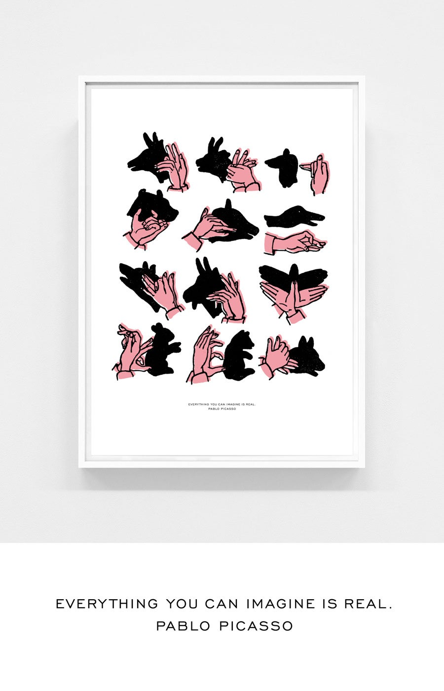 Image of Shadow Puppets rosé -- 50 x 70 cm
