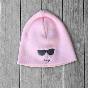 Image of Womens Pink Winter Beanie