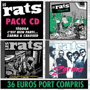 Image of LES RATS Pack 3 CD